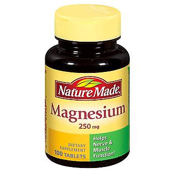 Nature made magnesium, 250 mg, tablets, 100 ea