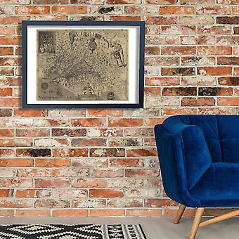 Virginia Map Capt John Smith 1624 Poster Print Giclee