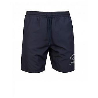 Paul & Shark Swimwear Reflective Logo Swim Shorts