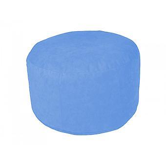 Pouf poly noble bleu Ø47 / 34 cm