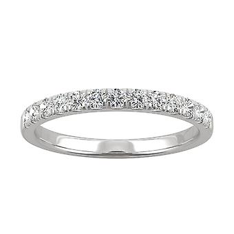 14K White Gold Forever One 1.8mm Round Wedding Band, 0.29cttw DEW