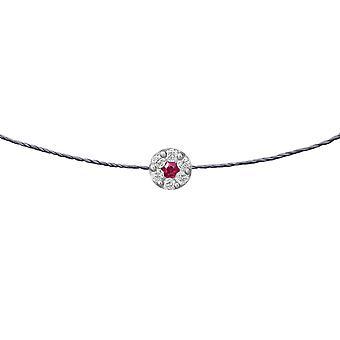 Choker Duchess Ruby 18K Goud en Diamanten, op Thread - White Gold, London Grey