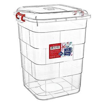 Opbevaringsboks med låg Confortime/50 x 50 x 60 cm - 75 L