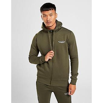 Novos homens McKenzie ' s essencial zip através de hoodie verde