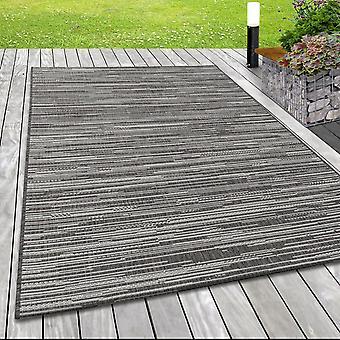 In&; Exterior de tela plana alfombra sisal óptica terrazas balcón de color sólido beige