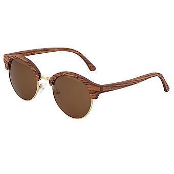 Earth Wood Misty Polarized Sunglasses - Cherry/Brown
