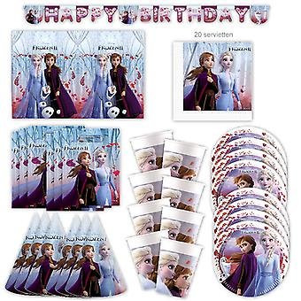 Anna en Elsa Frozen 2 The Ice Queen Party Set XL 50-Piece voor 6 gasten Party Birthday Decoration Party Pakket