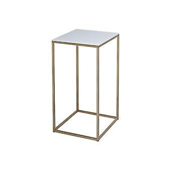 Gillmore Wit Glas en Goud metaal Eigentijdse Vierkante LampLijst