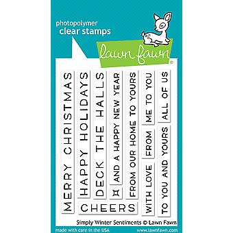Lawn Fawn Simply Winter Sentiments Clear Stamps