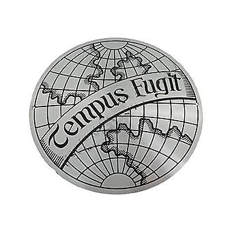 Tempus fugit plaque silver