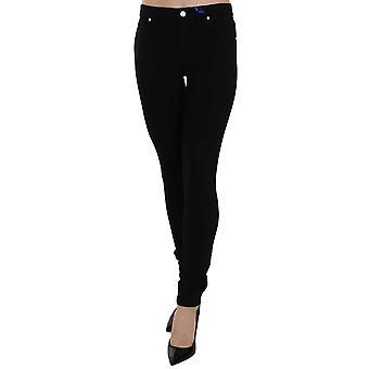 Versace Jeans Black  VJ Logo Emblem Skinny Fit Pant