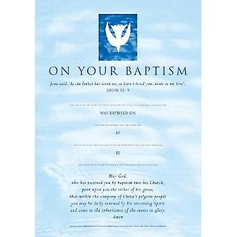 Baptism Certificates Contemporary pack of 20