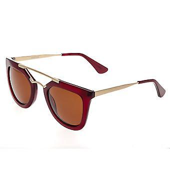 Bertha Ella Polarized Sunglasses - Red/Brown