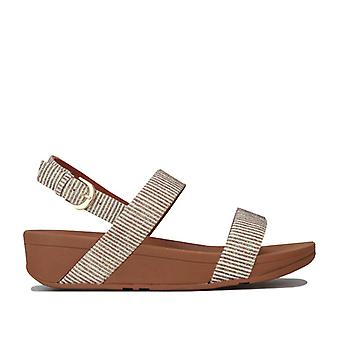 Women's Fit Flop Lottie Glitter Stripe Back Strap Sandálias em Creme