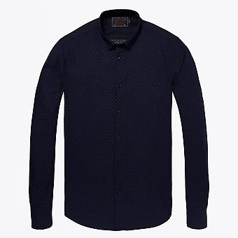 Scotch & Soda  - Classic Weave Shirt - Navy