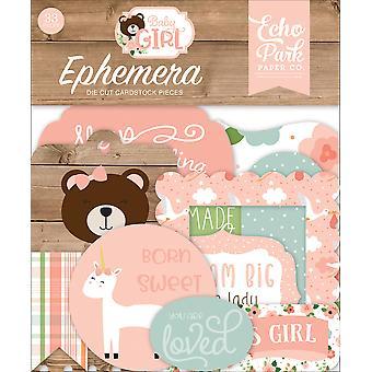 Echo Park Baby Girl Ephemera