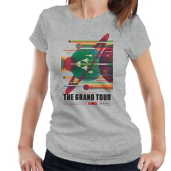 NASA The Grand Tour Interplanetary Travel Poster Women's T-Shirt