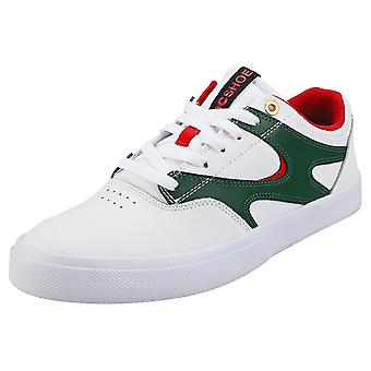 DC Shoes Kalis Vulc Mens Skate Trainers in White Red