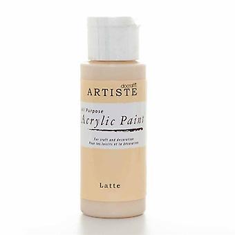 Peinture acrylique Docrafts (2oz) - Latte (DOO 763252)