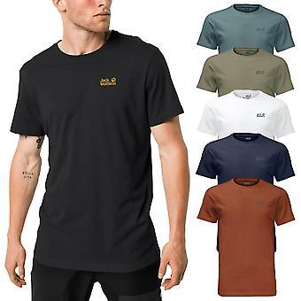 Jack Wolfskin 2021 Mens Essential Cotton Blend Lichtgewicht T-shirt 34% KORTING RRP