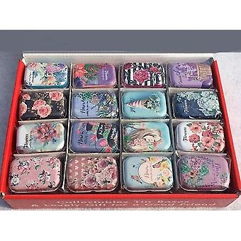 Retro Colorful Mini Tin Box Sealed Jar Packing Boxes - Jewelry, Candy Box,