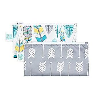 Reusable Snack Bag Small 2 Pack - Bumkin - Feather/Arrow SBS2-N12