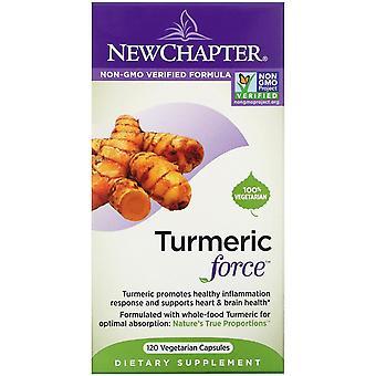 New Chapter, Turmeric Force, 120 Vegetarian Capsules