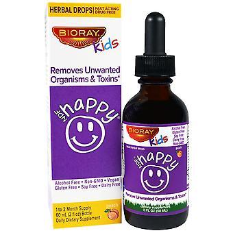 Bioray, NDF Happy, Removes Unwanted Organisms & Toxins, Kids, Peach Flavor, 2 fl