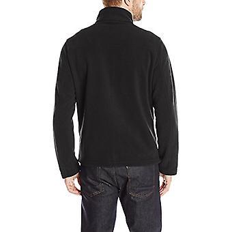 Tommy Hilfiger Men's Classic Zip Front Polar Fleece Jacket, Black, S