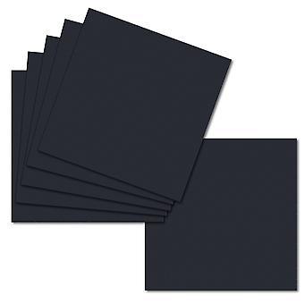 Mørkeblå. 153 mm x 153 mm. 6 tommer kvadrat. 235gsm kortark.