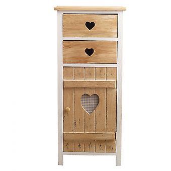Rebecca Møbler Comfort 2 Natural Wood Skuffer Hjerter lurvet 84x37x30