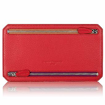 Poppy Red Richmond Leather Multi Currency Wallet