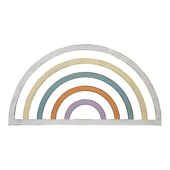 Rainbow Wall Decor with Distressed Finish