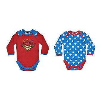 DC Comics Ensemble de 2 Wonder Woman Babygrows