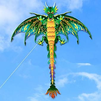 3d Pterosaur Animal Dinosaur Kite Long Tail Single Line Kite Outdoor Sports Fun Toy Children Regalo con 100m Kite Line (verde)