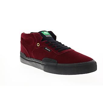 Emerica Pillar Mens Red Suede Lace Up Skate Sneakers Shoes