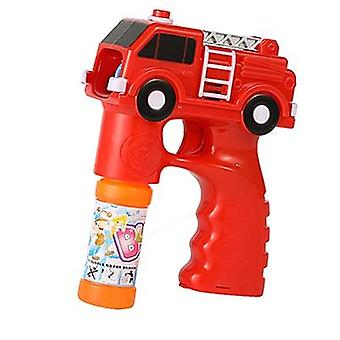 Outdoor Electric Kids Bubble Maker Toys For Children - Fire Engine Car Soap Blowing Bubbles Gun Machine Music With Light Water Guns
