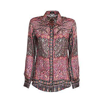Etro 190305104300 Women's Multicolor Silk Shirt