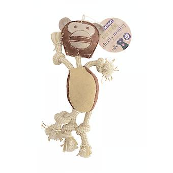 Battles Companion Natural Eco-friends Cheeky Monkey Dog Toy