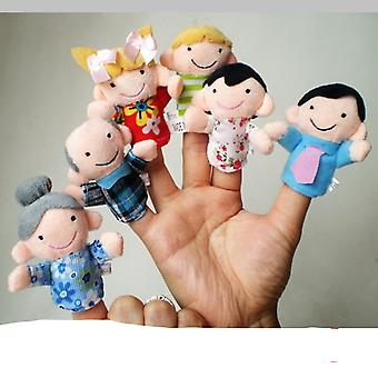 Family Finger Puppets Cloth, Doll Baby Educational Hand Toy, Story Kid