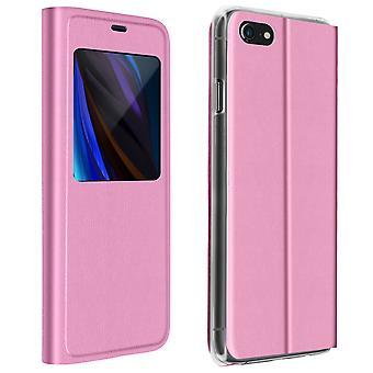Volle Abdeckung für Apple iPhone SE 2020/8/7 Display Fensterklappe - Pink
