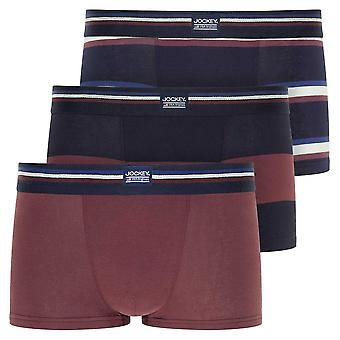 Jockey Cotton Stretch 3-Pack Short Trunks, Light Claret, Medium