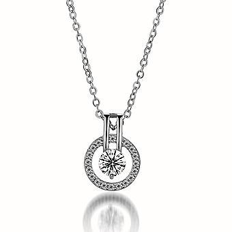 Full Diamond Star Pendant Necklace