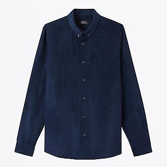 A.P.C.  - Serge - Manchester Shirt - Marinen