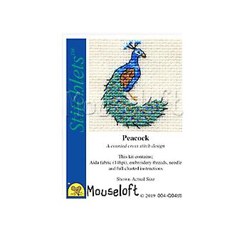 Peacock Stitchlets Counted Cross Stitch Kit