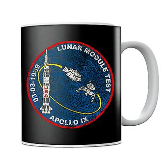 NASA Apollo 9 Mission Badge Distressed Mug