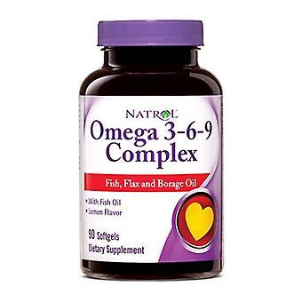 Natrol Omega 3-6-9 Complex, 90 Softgels