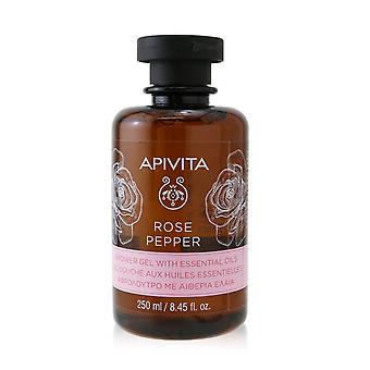 Rose peber shower gel med æteriske olier 254722 250ml/8.45oz
