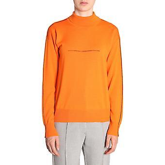 Mm6 Maison Margiela S32ha0506s16447187 Women's Orange Wool Sweater