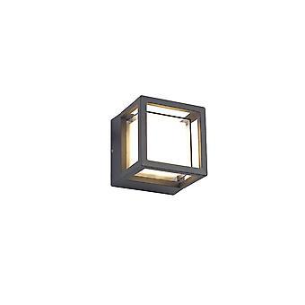 Rhonwen Square Downlight, 6w Led, 3000k, 360lm, Ip54, Anthracite, 3yrs Warranty